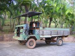 Old transporter in Thailand Stock Photos
