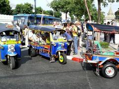 Tuk-Tuk's in Bangkok (Thailand) - stock photo