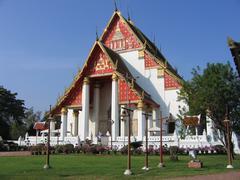 Wihan Ohra Mongkhon Bophit in Thailand - stock photo