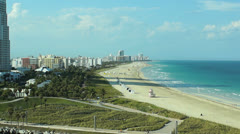 South beach aerial Stock Footage