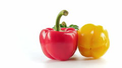 Red and yellow pepper Stock Footage