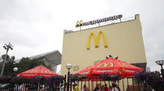 McDonalds in Russia Stock Footage