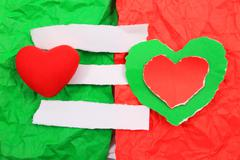 creative simple background on valentine' s day - stock photo