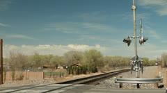 RAILRUNNER Train Crossing Stock Footage