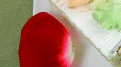 Tender cheese cream cake Stock Footage