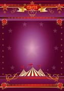 Circus purple poster Stock Illustration