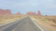 Road trip to Monument Valley, Arizona, USA Stock Footage