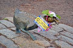 "Stock Photo of boston - apr 20: sculpture of ducks tribute to robert mccloskeys story ""make"