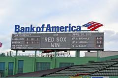 Boston - apr 20: fenway park on april 20, 2013 in boston, usa. Stock Photos