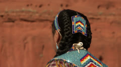 Native American Powwow Dancer - Female -02 Stock Footage