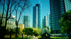4K,Scene of Frankfurt am Main in a sunny day, time lapse Stock Footage