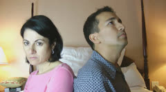 A couple who have been arguing sit silently. Stock Footage