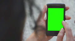 business smartphone finger gesture,  CHROMA KEY - stock footage