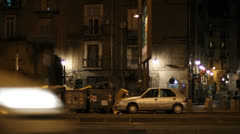 Waste on the streets of Naples, Italy  Stock Footage