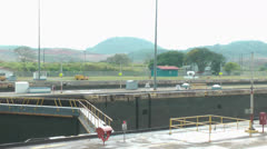 Operation parts of the Panama Canal in Panama City Stock Footage