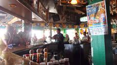 Restaurant Bar Stock Footage
