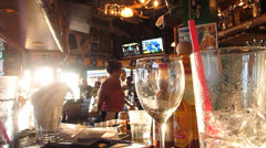 Paying at the Bar Stock Footage