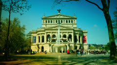 Scene of Frankfurt am Main in a sunny day, time lapse, Opera Stock Footage
