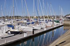 Port of Arzon in France Stock Photos