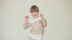 Little businesslady with ok hands sign Stock Footage