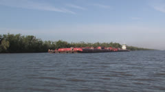 Tugboat and Barge - stock footage