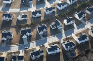 Stock Photo of modern suburban homes aerial