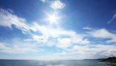 Sun clouds and sea timelapse landscape 4k Stock Footage