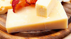 Edam parmesan and brie Stock Footage