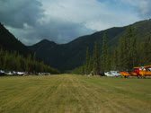 Stock Video Footage of Johnson Creek Airstrip wide shot on runway 01