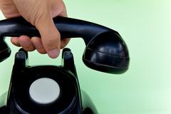 Answer the telephone Stock Photos