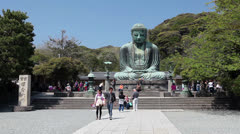 The Great Buddha in the city of Kamakura, Japan Stock Footage