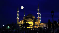 Blue Mosque at night - stock footage
