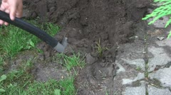 Digging hole Stock Footage