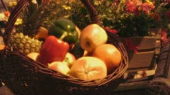 Fruit basket Stock Footage