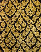 thai floral pattern - stock photo