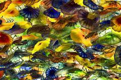 Fiori di Como vibrant glass sculpture ceiling Dale Chihuly 6610 - stock photo