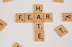 Fear and Hate - stock photo