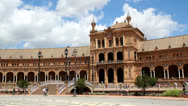 Stock Video Footage of Plaza de Espana