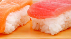 Different Types of Nigiri Sushi Stock Footage
