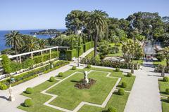 villa ephrussi de rothschild, saint-jean-cap-ferrat, france - stock photo