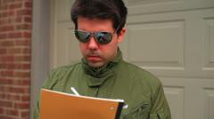 Pilot checklist check list Stock Footage