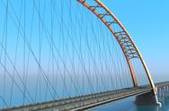 Bridge over the ocean. 3d illustration Stock Illustration