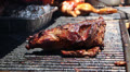 Beef Tri -Tip On BBQ Grill HD Footage