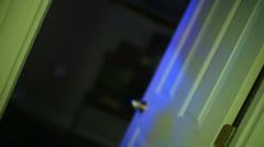 poltergeist door slam ghost haunt - stock footage