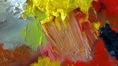 Paint palette - stock footage
