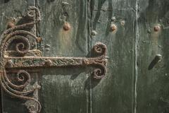 Ornate Hinge - stock photo
