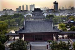 Stock Photo of hall four auspicous merits pan men scenic area suzhou china