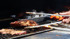 Barbecue Cookout Stock Footage