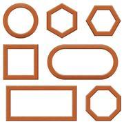 Stock Illustration of Wooden frames, set
