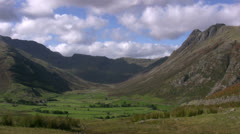 Langdale Fells looking Northwest Stock Footage